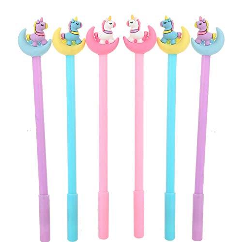 WIN-MARKET Colorful Moon Donkey Gel Pens Set Fashion Cute Colorful Kawaii Lovely Gel Ball Pens Office School Stationery pen(6PCS)