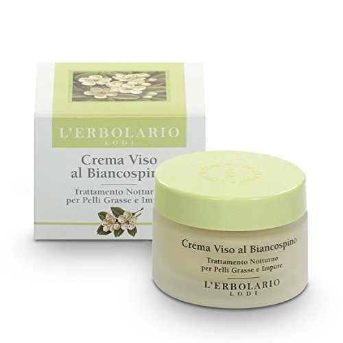 L'Erbolario Hawthorn Face Cream Night Treatment 50ml for Oily and Blemished Skin