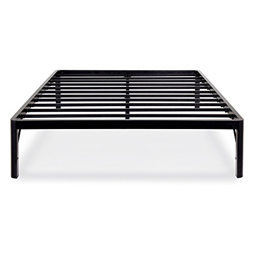 Olee Sleep 14 inch Tall Round Edge Steel Slat / Non-slip Support Bed Frame S-3500, OLR14BF10Q (Queen) - Tall Storage Platform Bed