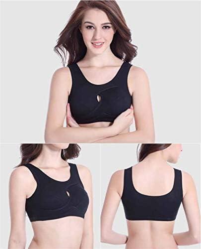 JingBiaoMaoYi Mujeres Fitness Color sólido Sujetador Deportivo ...