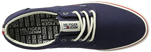 Tommy Hilfiger V2385ic 1d, Zapatillas para Hombre Azul (Ink 006)