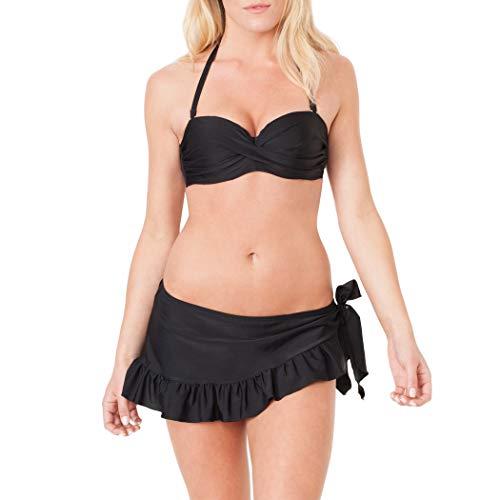 Smart+Sexy Womens Ruffle Skirted Bikini Bottom