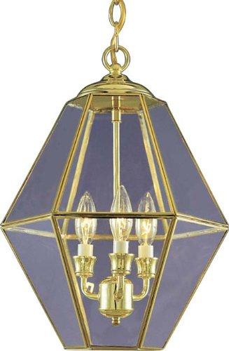 Volume Lighting V5022-2 3-Light Chandelier, Polished Brass - Polished Brass Three Light Foyer
