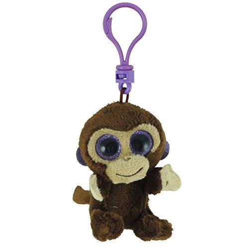 (BEANIE BOOS TY COCONUT the Monkey (Glitter Eyes) (Plastic Key Clip - 3 inch))