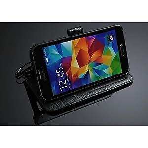 GX caja de la carpeta caja del cuero genuino para i9600 Samsung Galaxy S5 , Red