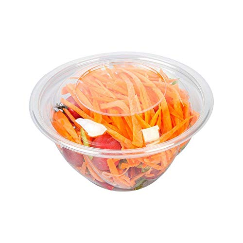 YuSheng Plastic Disposable Salad Bowls,24 Ounce-40 Pack,Portable size Storage Containers with Eco-Friendly Dome Lids and Convenient to Use for Restaurant or Party Take Home Boxes,Clear by YUSHENG