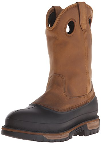 Georgia Boot Men's Muddog Work Shoe, Georgia Brown, 10.5 W US