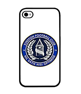 Everton F.C Iphone 4 Funda Case, Football Club Protection Unique Pattern Rugged Drop Resistant Hard Plastic Vintage Fit for Iphone 4 / 4s