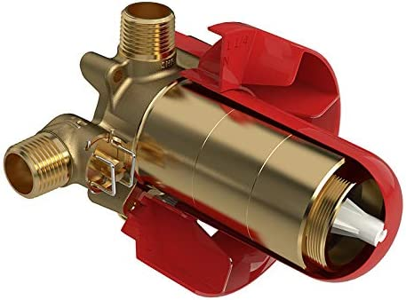 RIOBEL R93 2-Way coaxial Thermostatic/Pressure Balance Male Inlet NPT or Sweat 4 Positions (Off, 1, 1&2, 2) with Service Valve