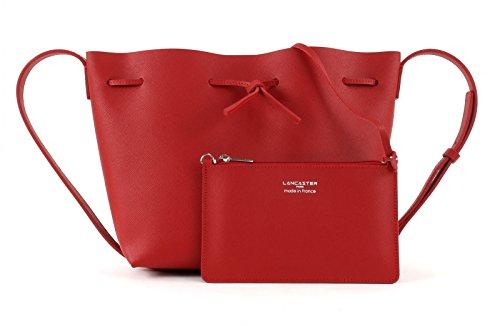 Secchiello Lancaster Pur in pelle saffiano color rosso