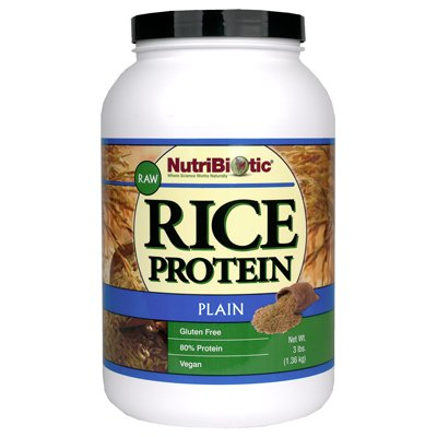 NutriBiotic Rice Protein Powder Raw Vegan Plain -- 3 lbs by Nutribiotic
