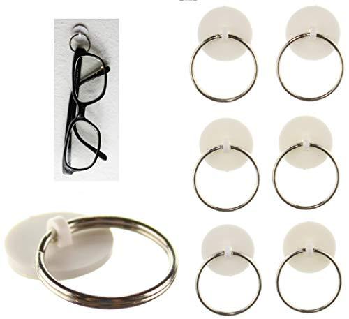 Sticknhang 6-Pak 3M Adhesive Sunglass Eye Glass Holder Hanger for Home Wall
