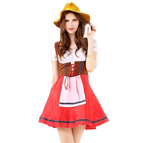Oktoberfest Dirndl Trachtenkleid mit Hut