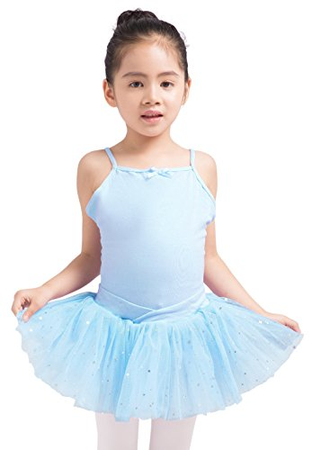 Dancina Leotard Girls Ballet Costume 8 Light Blue Tutu -