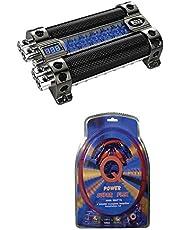 BOSS CAP18 18 Farad Digital Car Audio Capacitor Cap Digital + 4 Gauge Amp Kit