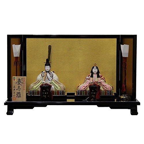 雛人形 平飾り木目込み親王 帯地慶寿雛25095 幅60cm 3mk18 真多呂 伝統的工芸品   B075GJ9HVM