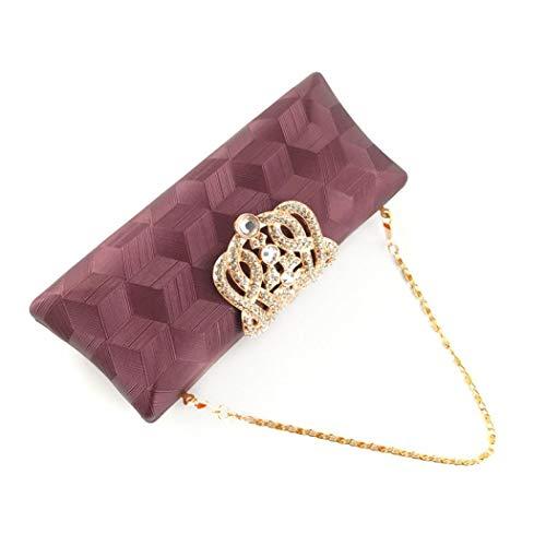 EROUGE Rhinestone Women Gold Evening Wedding Purse Designer Cocktail Handbags Elegant Leather for Clutch for qTwrR4xq