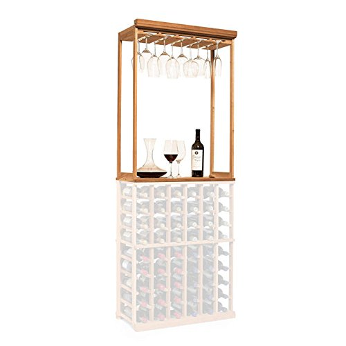 N'FINITY Wine Rack Kit - Stemware & Tabletop, Natural Finish, Solid Mahogany by N'FINITY