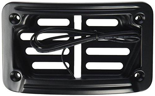 Kuryakyn 7678 Satin Black Laydown Curved LED License Plate (Kuryakyn Plate License Mounting)