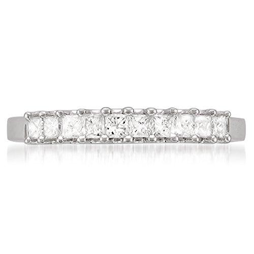 La4ve Diamonds Platinum Princess-Cut Diamond Bridal Wedding Band Ring (1/2 cttw, H-I, VS2-SI1), Size 6