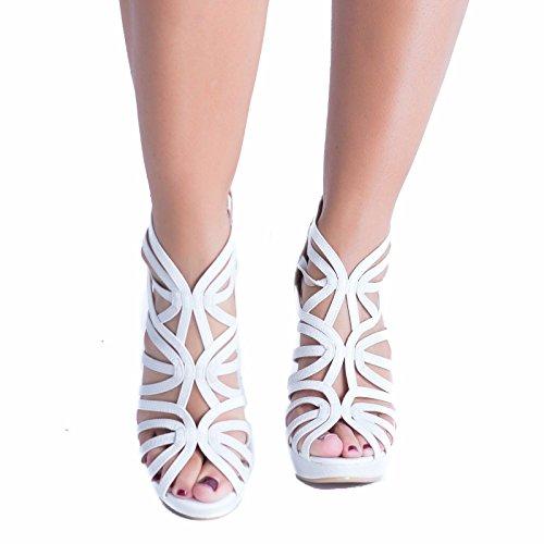 SnobUK - Zapatos con tacón mujer blanco