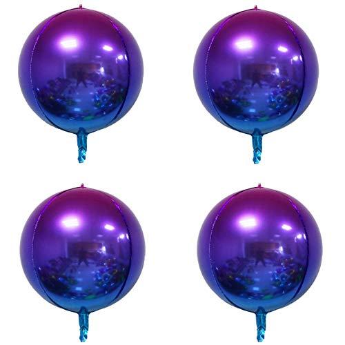 Purple and Blue Ombre Orbz Balloons 4pcs Hangable 22