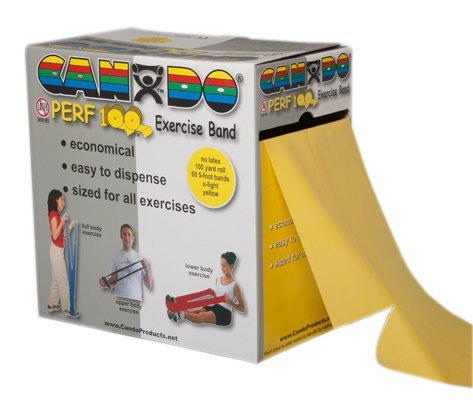 Perforated Exercise Band Features: Latex Free, Color: Yellow by Cando