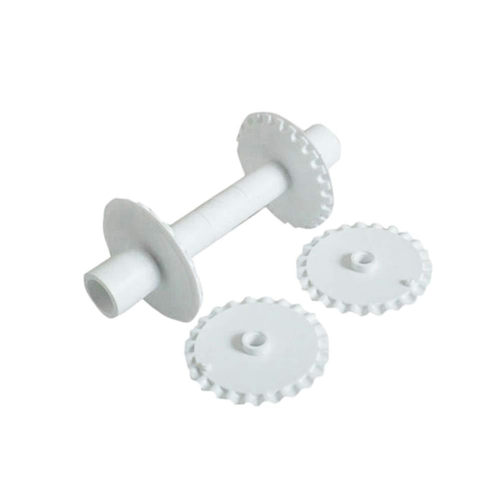 BESTONZON 6pcs pastelerí a cortador de ruedas galletas de pasta cortador fondant pasteles de encaje cortador de rodillos