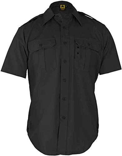 Police Uniform (Propper Black Tactical Short Sleeve Shirts F530138001L)