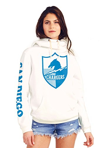 San Chargers Womens Diego (San Diego Chargers Cowl Neck Women's Hoodie Small)