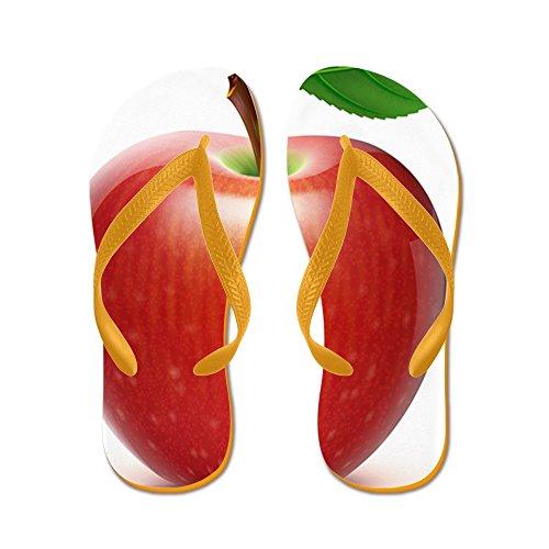 Cafepress Rode Appel - - Slippers, Grappige Leren Sandalen, Strand Sandalen Oranje