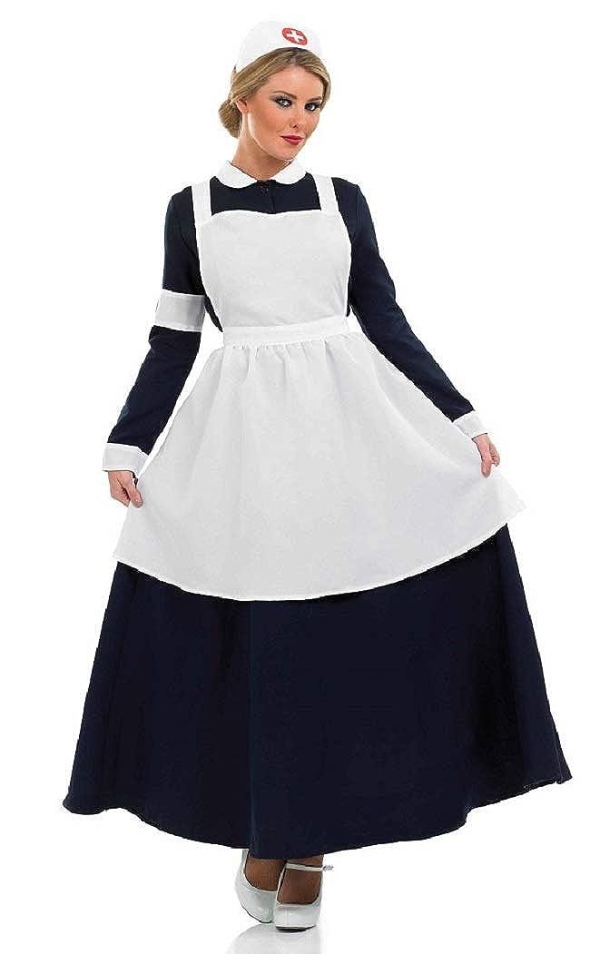 Amazon.com: Ladies WW1 WW2 Old Victorian Nurse Florence ...