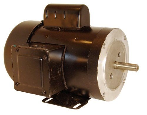Century B890 Cap Start C-Face, 56C Frame, 1-HP, 3600-RPM, 115/208-230-Volt, 12-Amp, Ball Bearing Motor