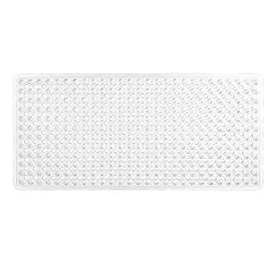 Gorilla Grip Bath Mat 35x16 Inch - Clear