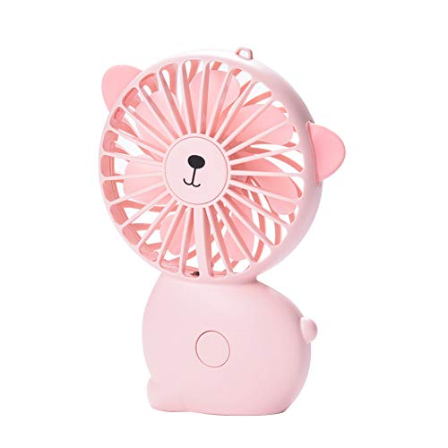 - BeimYcW Cartoon Cat Handheld Mini Cooling Fan USB Night Light Travel Outdoor Air Cooler Pink