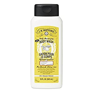 J.R. Watkins Daily Moisturizing Lemon Cream Body Wash, 18 Ounce