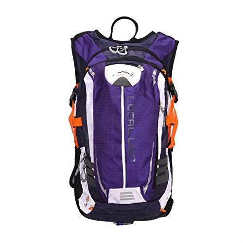 Outdoor Sports Cycling Hiking Camping Travel Daypack, Water resistant, 18L(purple) by YOGOGO (Image #2)