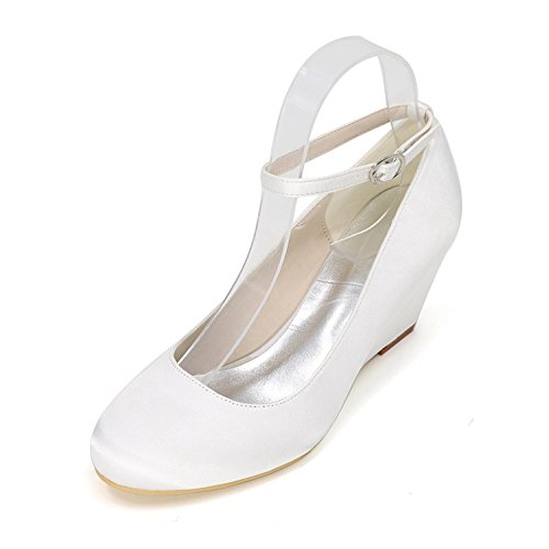 Wedding Wedding Party Color Slope L Women Multi Ballet YC Heels White High Comfortable Shoes With vv0gRwq