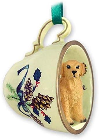 Golden Retriever Christmas Ornament Teacup