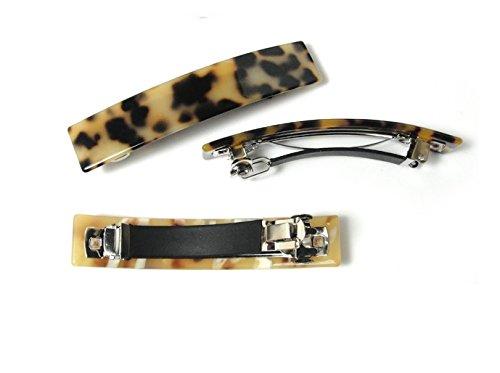 Kingken Mode Acrylique Leopard dimpression /à Ressort Barrette Pince /à Cheveux pour Femme