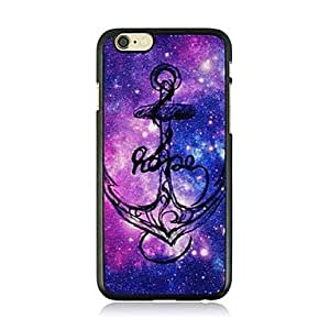 LCJ Anchor Leather Vein Pattern Hard Case for iPhone 6