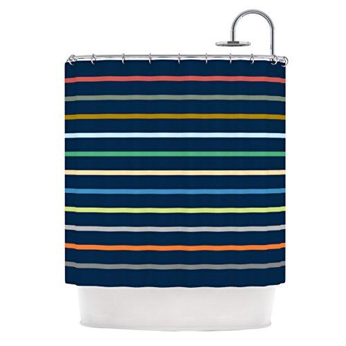 KESS InHouse Trebam Tanak Navy Blue Shower Curtain, 69 by 70-Inch from KESS InHouse