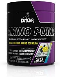 Cutler Nutrition Amino Pump Muscle Building Amino Formula, Blue Lemonade, 10.05-Ounce