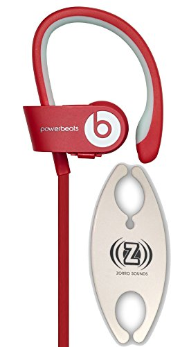Beats by Dr. Dre Powerbeats 2.0 Wireless Red In-Ear Headphones Carry Pack with Wire Holder