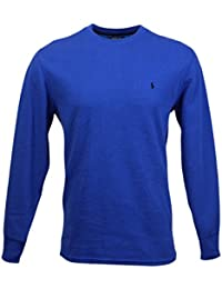 Mens Long Sleeve Crew Neck Thermal-Royal Blue-Large