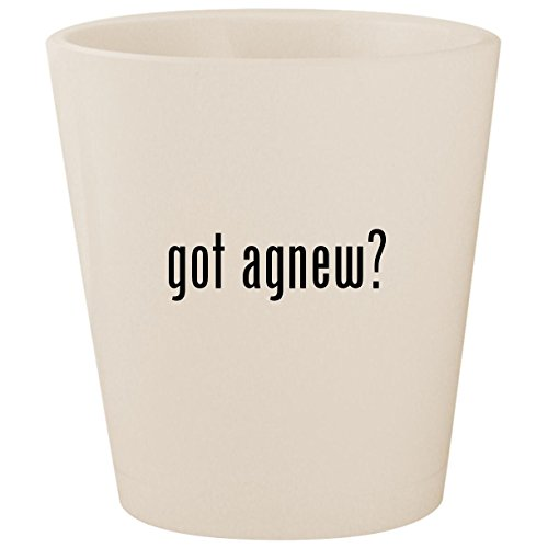 - got agnew? - White Ceramic 1.5oz Shot Glass