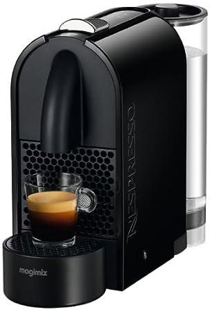 Magimix Nespresso U Coffee Machine - Aeroccino - Black