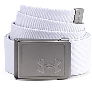 Under Armour Men's Webbing Belt 2.0 , White (100)/Overcast Gray , One Size Fits All