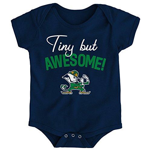 Gen 2 NCAA Notre Dame Fighting Irish Newborn & Infant Awesome Script Bodysuit, 24 Months, Navy