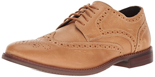 Rockport Men's Style Purpose Wing Tip Oxford, Light Tan Leather, 12 M US